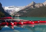 kayaks on lake louise