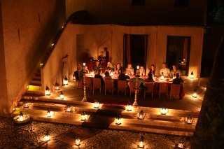 Lantern dinner at the Dar Ahlam