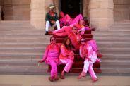 Holi_Group on steps