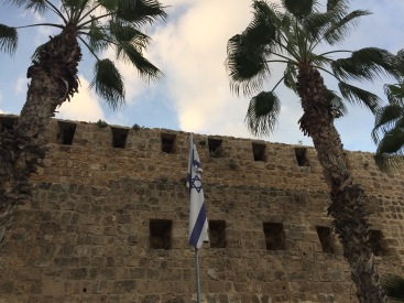 Israel flag in Akko