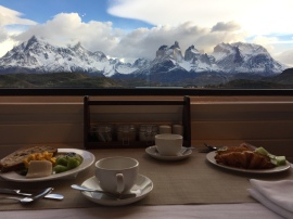 Breakfast with a view at Explora Patagonia