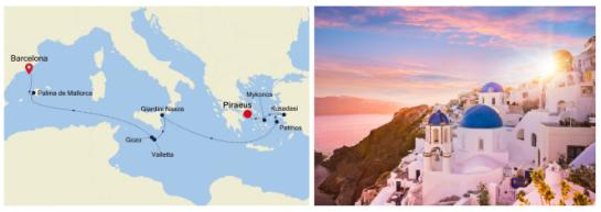 Silversea Greece to Barcelona